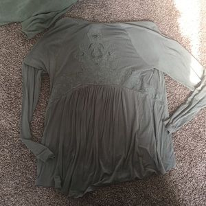 American Eagle Outfitters Tops - American Eagle Lace Back Long Sleeve